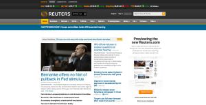 Reuters agentziaren egungo diseinua.