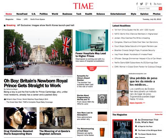 Time aldizkariaren webgunea.