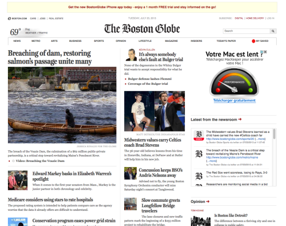 The Boston Globe egunkariaren webgunea.